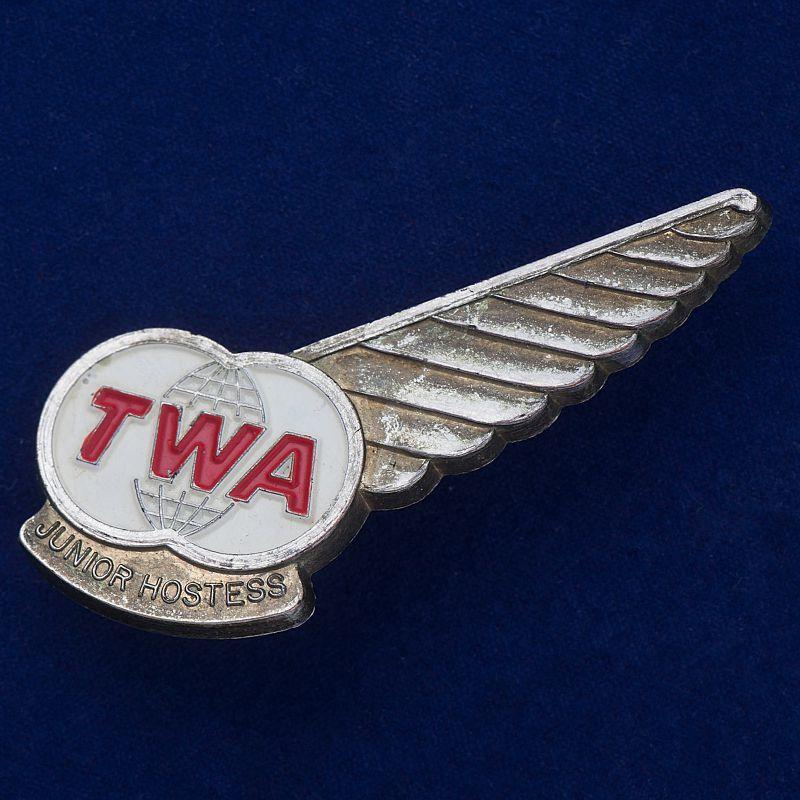 "Значок ""Junior Hostess. TWA"""