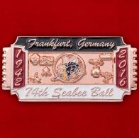 Значок к 74-летию военно-строительных подразделений ВМС США