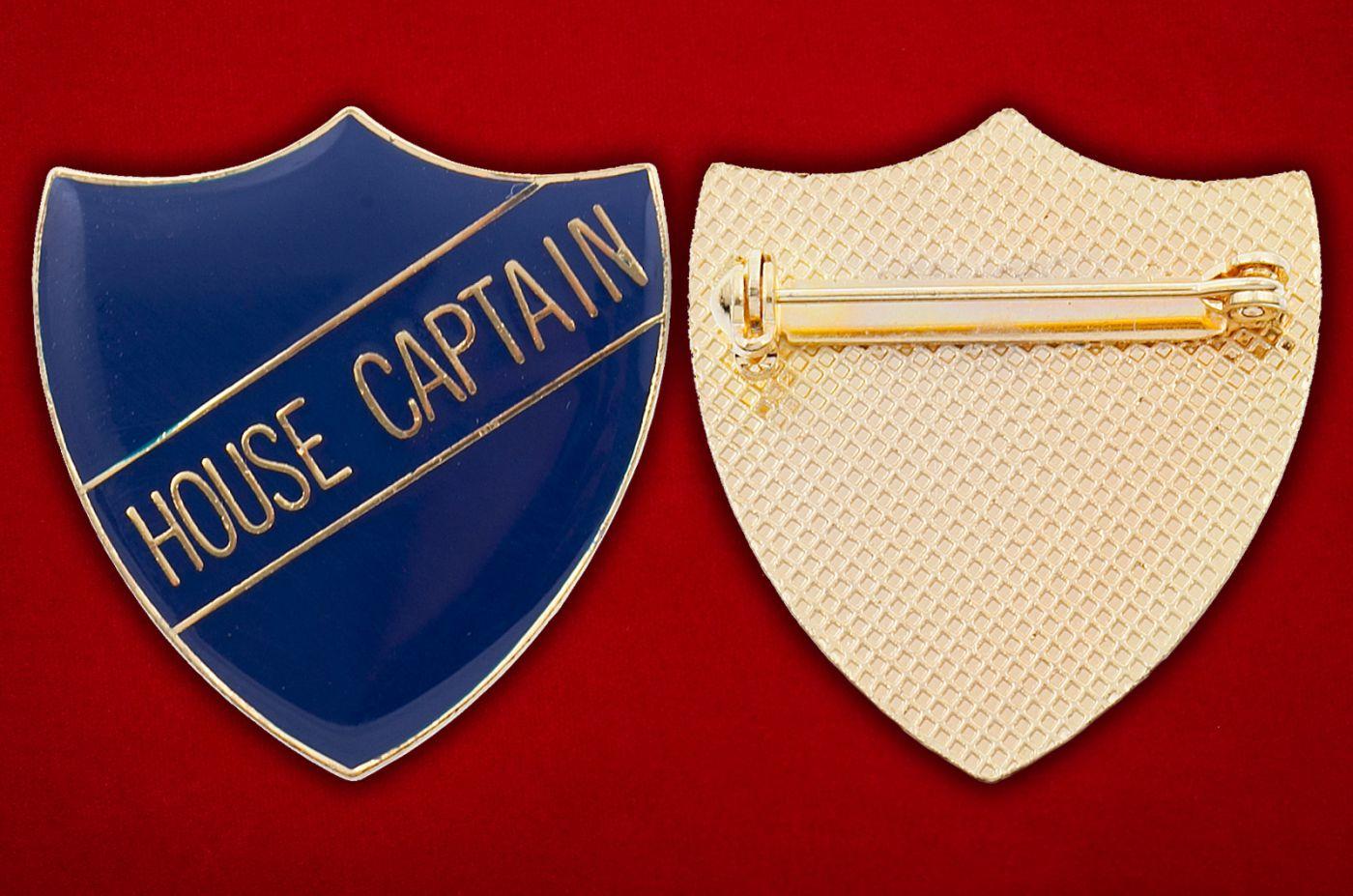 Значок капитана школьной команды - аверс и реверс