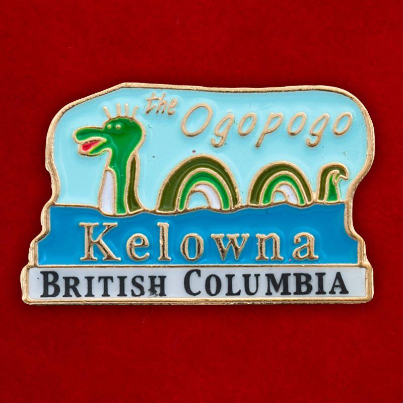 "Значок ""Озерный демон Огопого"" города Келоуна, Канада"