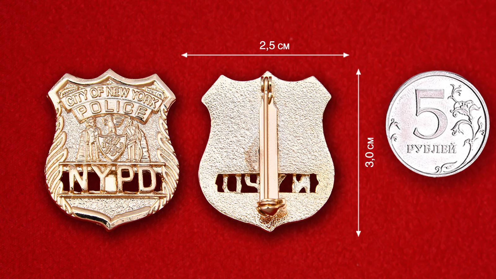 """Значок """"Полицейское управление Нью-Йорка"""""""