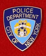 """Значок полиции США """"Департамент Нью-Йорка"""""""