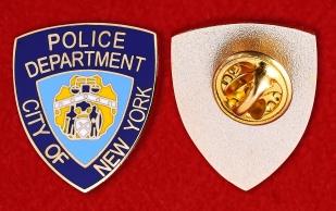 Коллекционный значок полиции Нью-Йорка