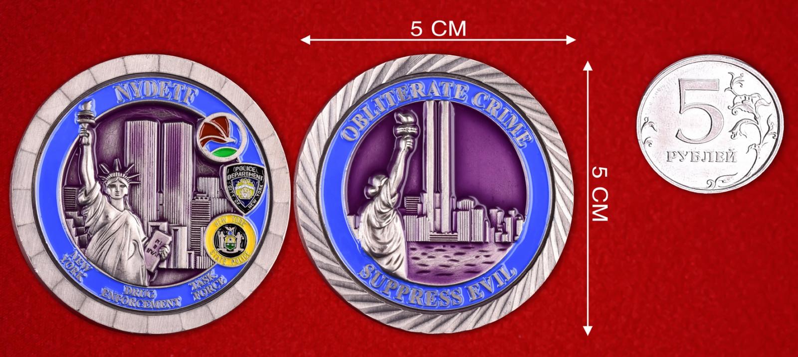 """Значок полиции США """"Спецподразделение по наркоконтролю Нью-Йорка"""""""
