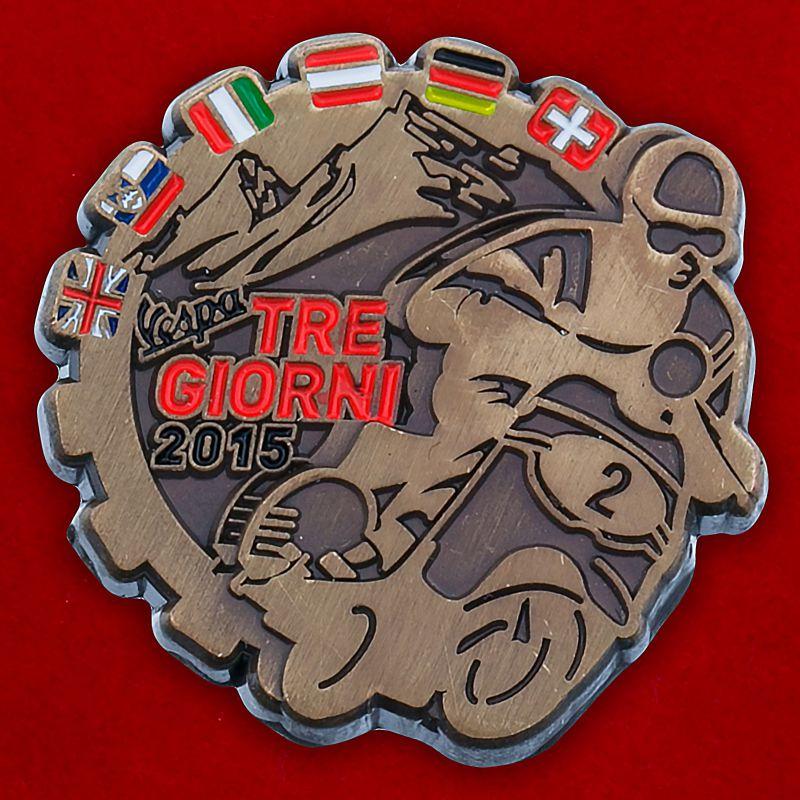 """Значок """"Rallye Tre Giorni 2015"""""""