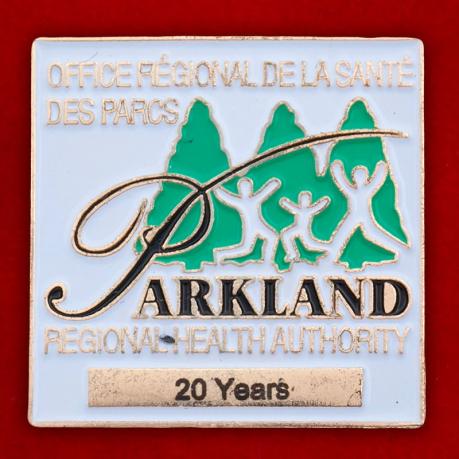 Значок региональной службы здравоохранения Паркленд, Манитоба, Канада