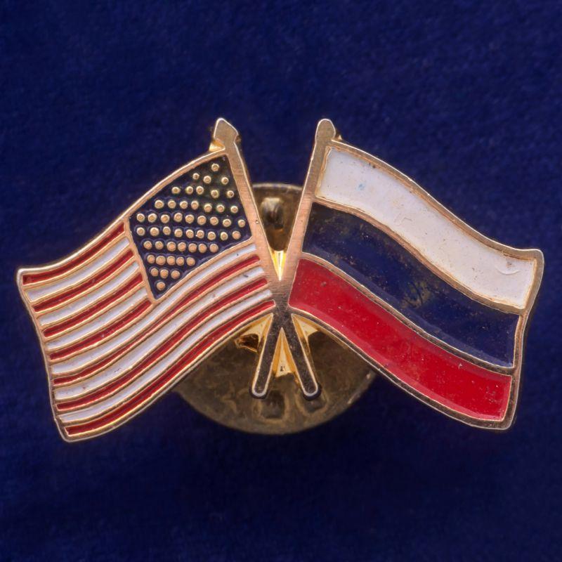 """Значок """"Россия-США"""""""