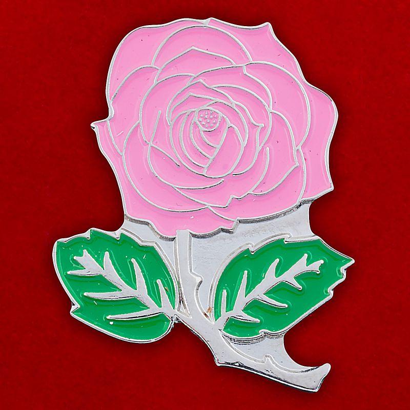 "Значок ""Розовая роза"""