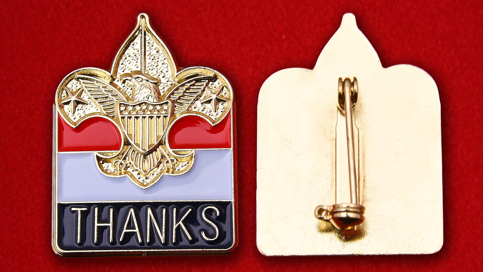 "Значок с флагом Ирака ""Спасибо, США"""