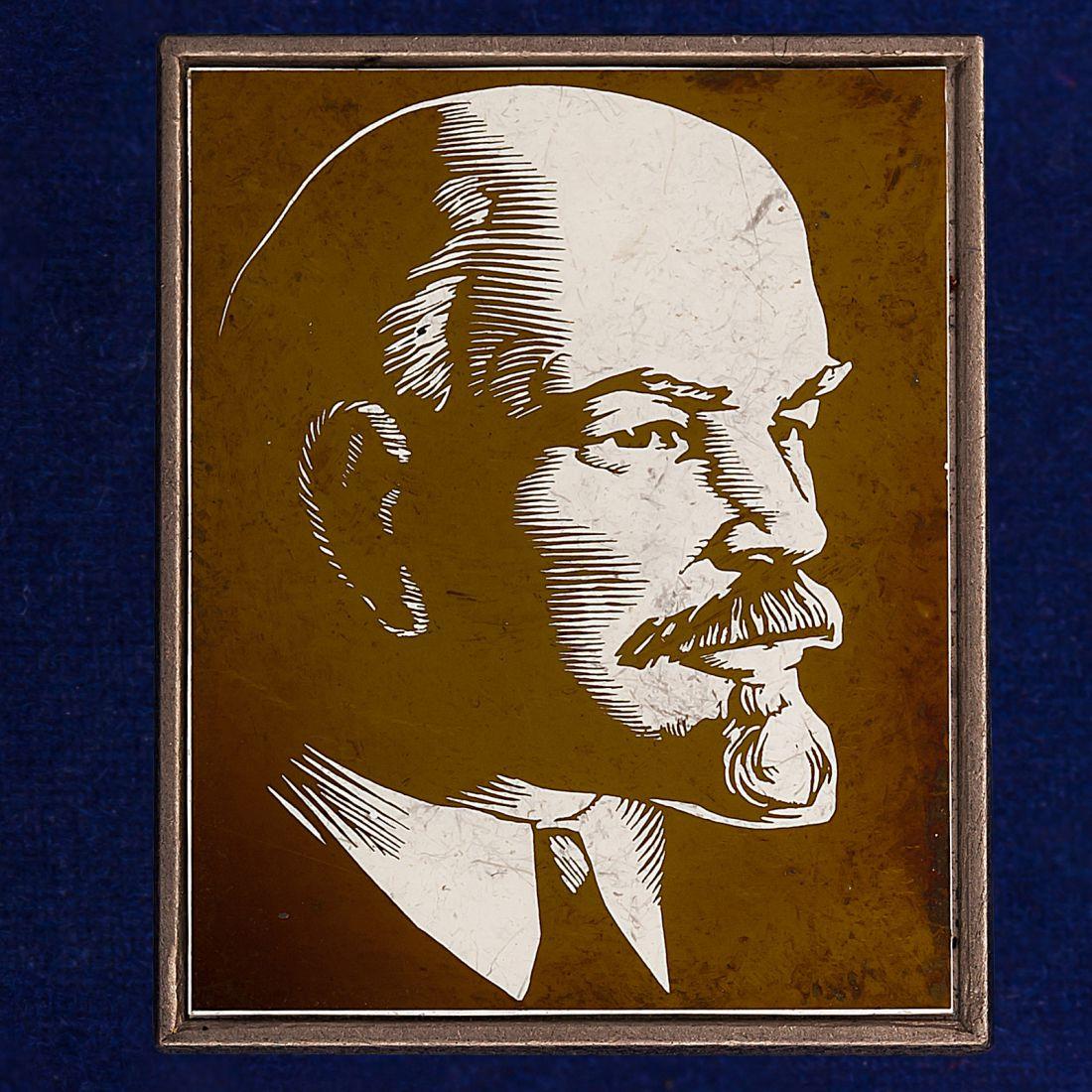Значок с фото Ленина