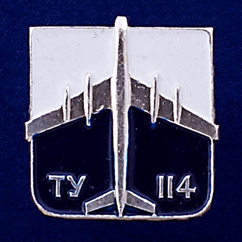 Значок Самолет ТУ-114