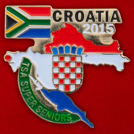 Значок сборной ЮАР на командном чемпионате мира по теннису-2015 среди ветеранов в Хорватии