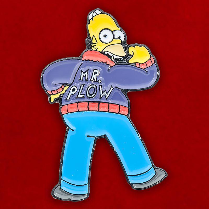 "Значок Симпсоны ""Mr. Plow"""
