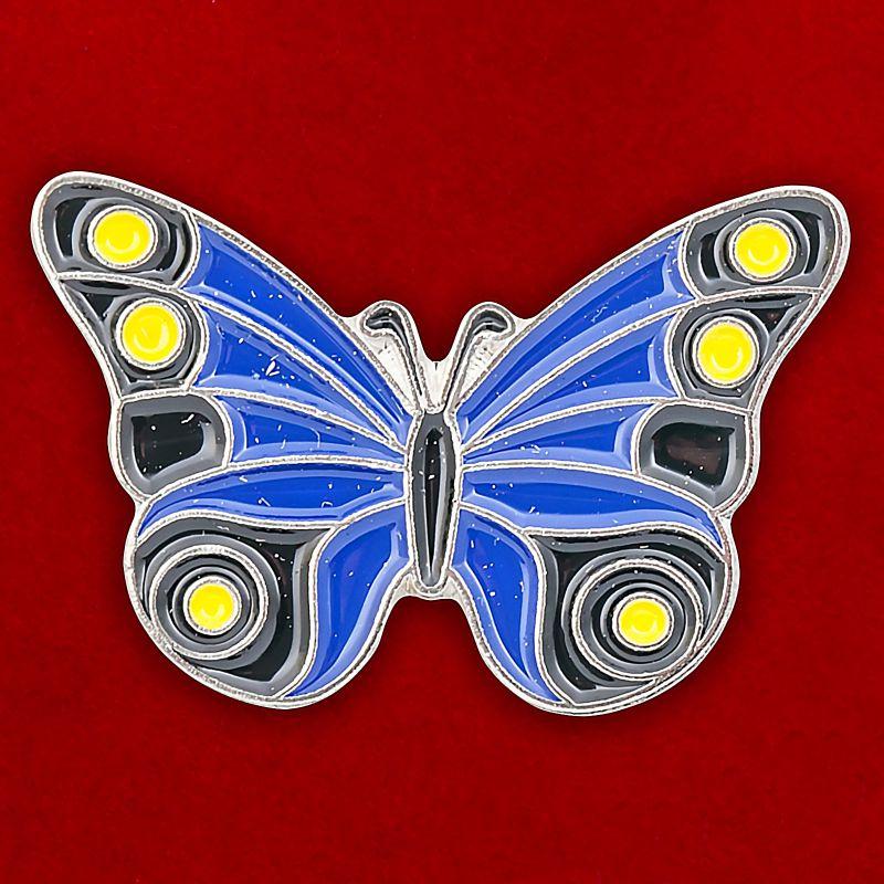 "Значок ""Синяя бабочка"""