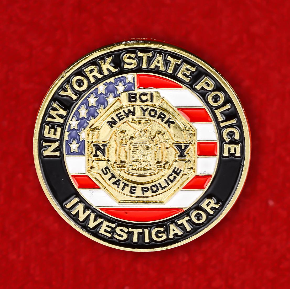 Значок следователя полиции Нью-Йорка