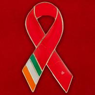Значок солидарности с проблемой СПИД в Ирландии
