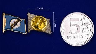 Значок Спецназ ГРУ - сравнительный размер