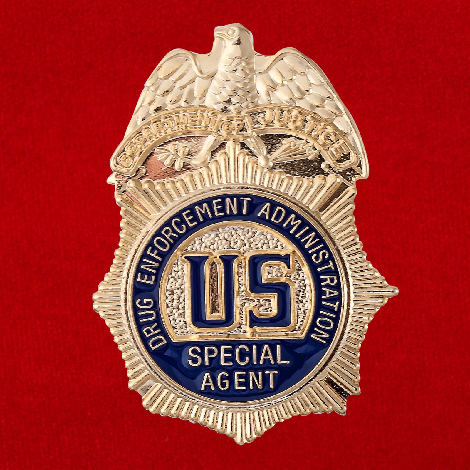 """Значок США """"Специальный агент отдела по борьбе с наркотиками"""""""