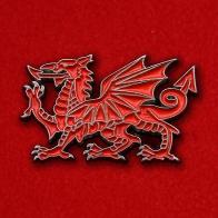 """Значок """"Валлийский дракон И-Драйг Гох"""""""