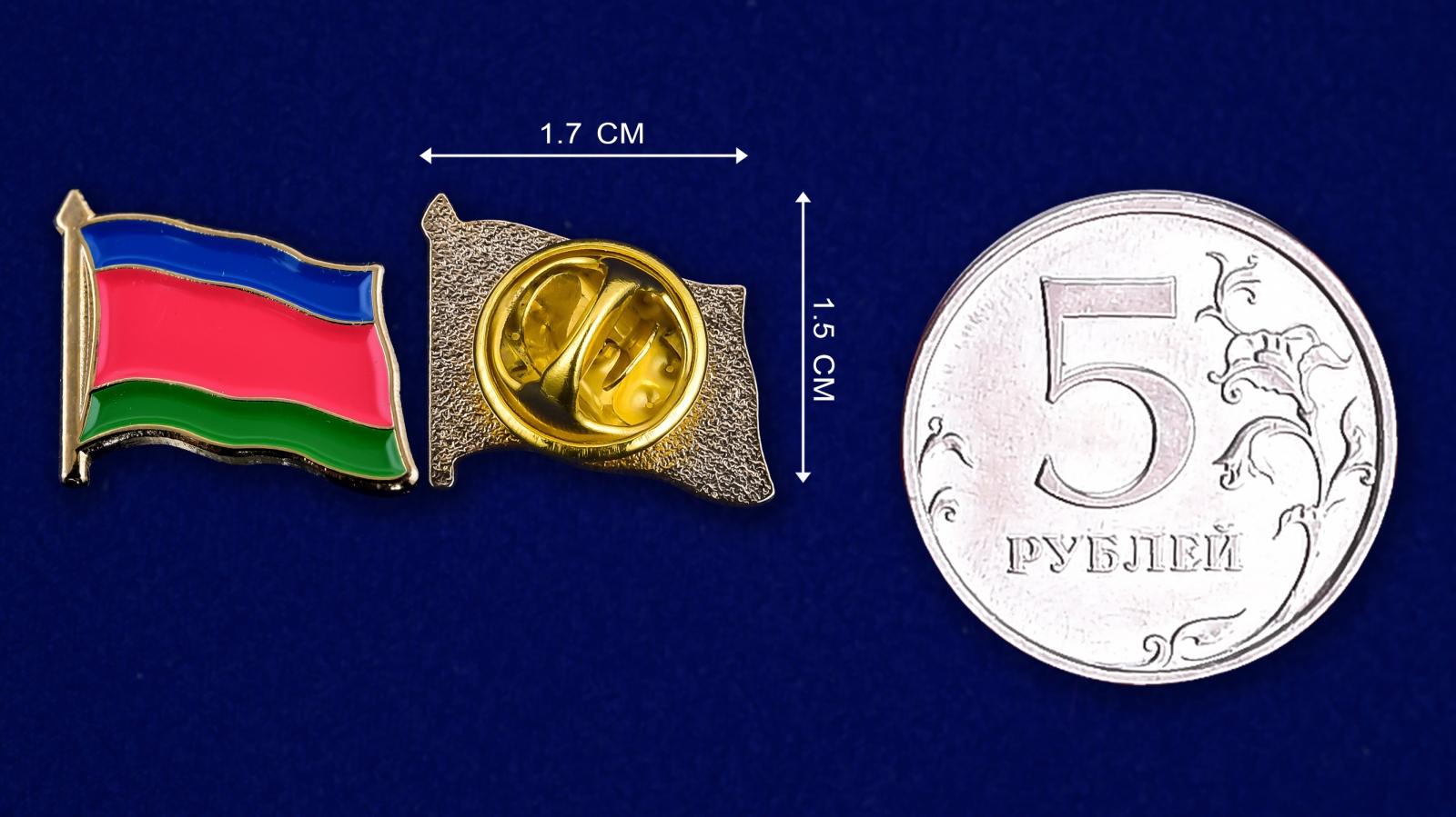 Значок Войска Кубанского-сравнительный размер