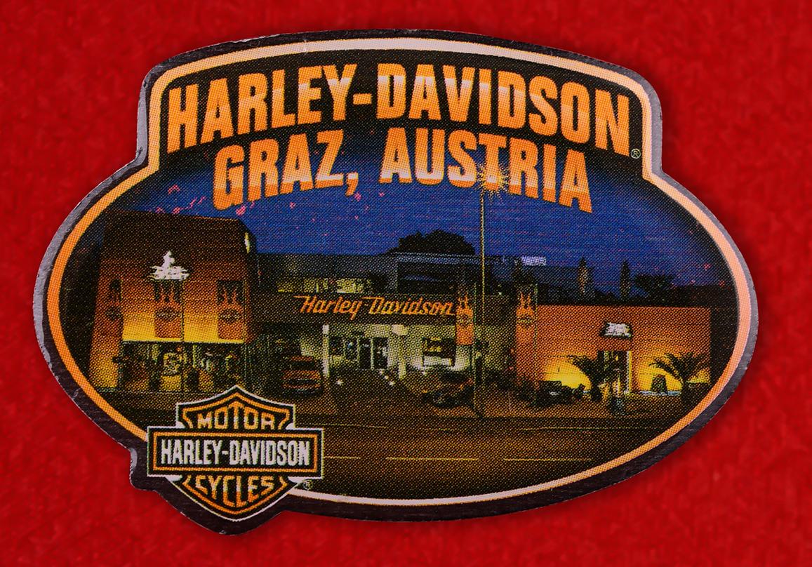 "Знак байкеров Австрии ""Харлей-Дэвидсон, Грац"""