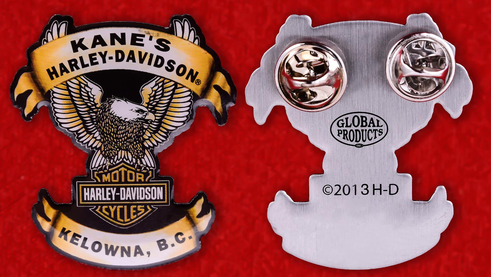 "Знак байкеров Канады ""Харлей-Дэвидсон, Келоуна"""