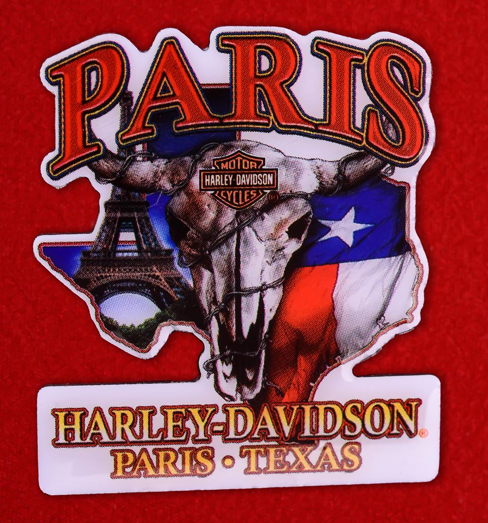 "Знак байкеров США "" Harley-Davidson, г. Париж, Техас"""