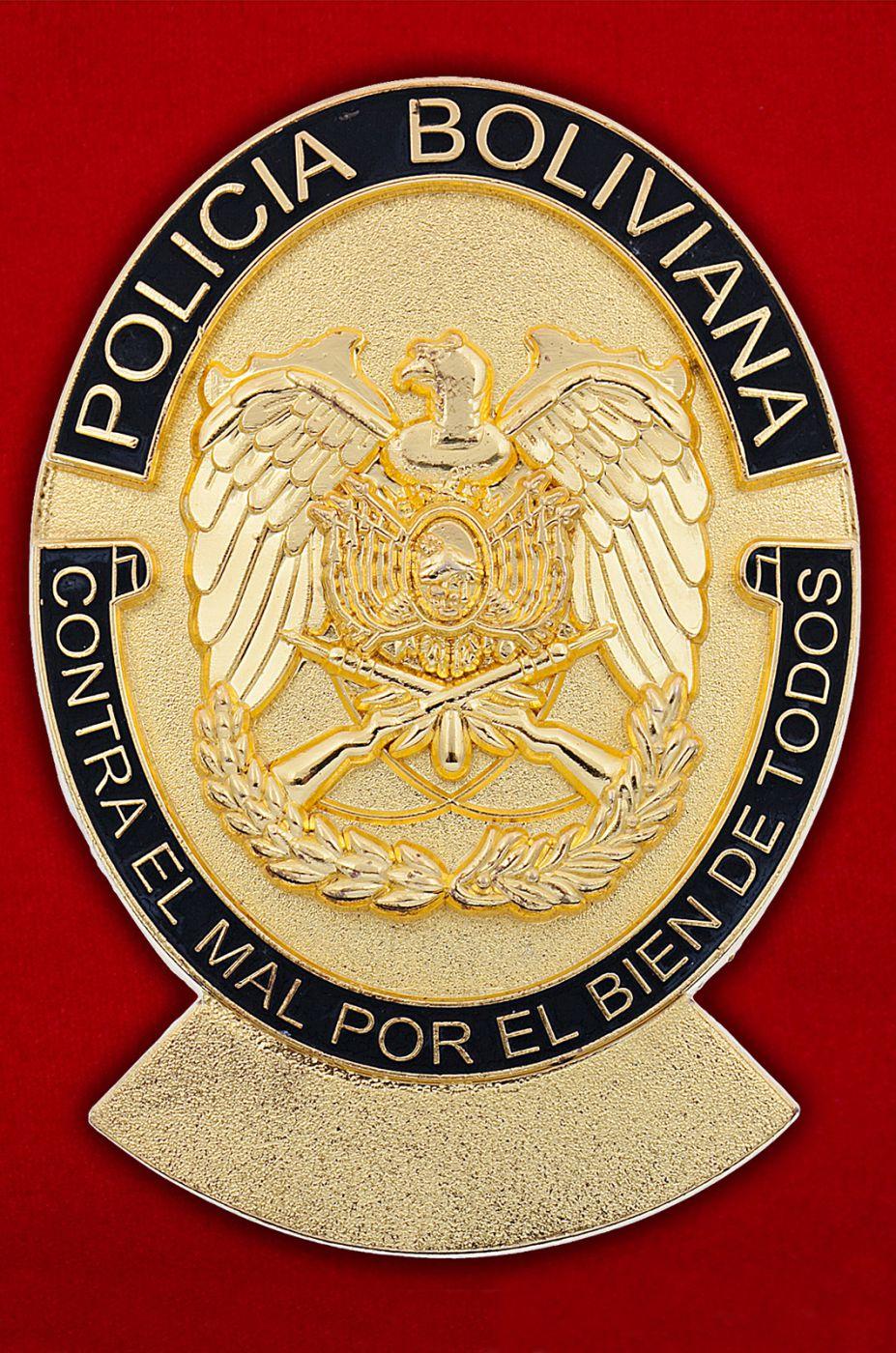 Знак боливийских полицейских