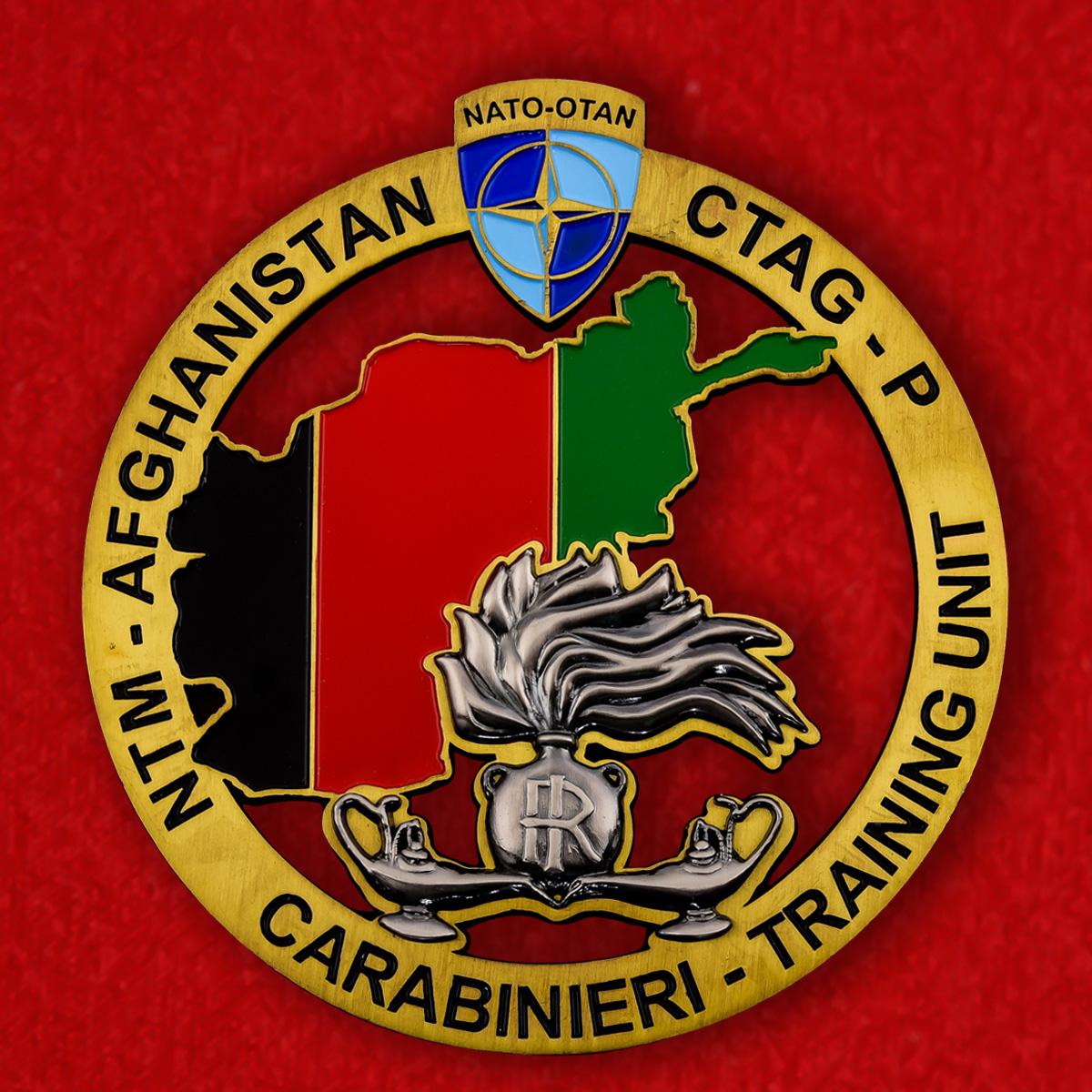Знак итальянских карабинеров в составе учебной миссии НАТО в Афганистане 11.2 х 12 см