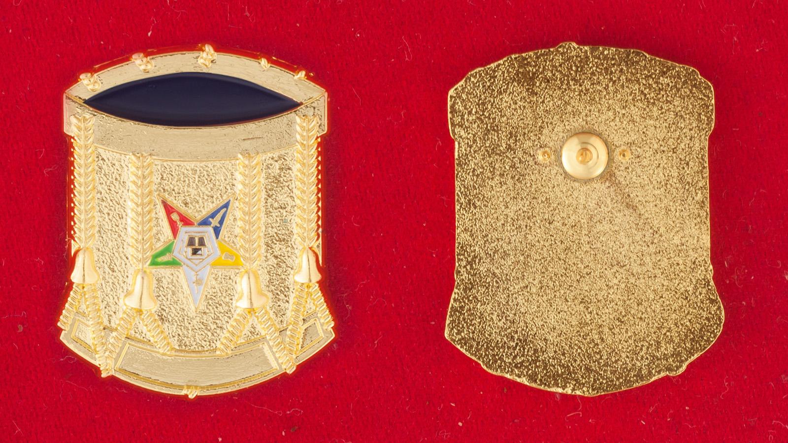 """Нагрудный знак """"Ритуальная корона Алистера Кроули"""" - аверс и реверс"""
