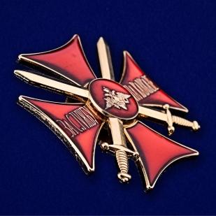 Знак Крест За службу на Кавказе (красный) - вид под углом