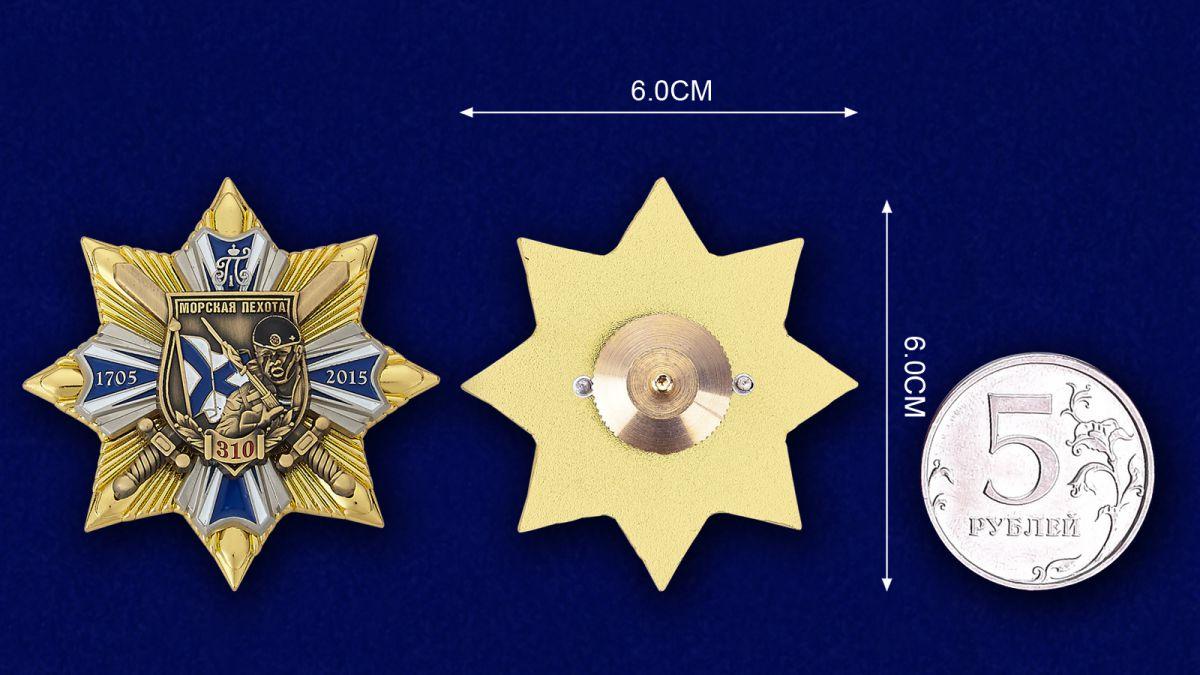 Знак Морской пехоты - сравнительный размер