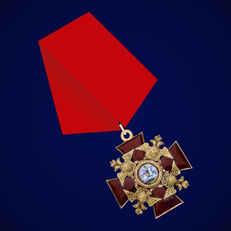 Знак ордена Святого Александра Невского (на колодке)