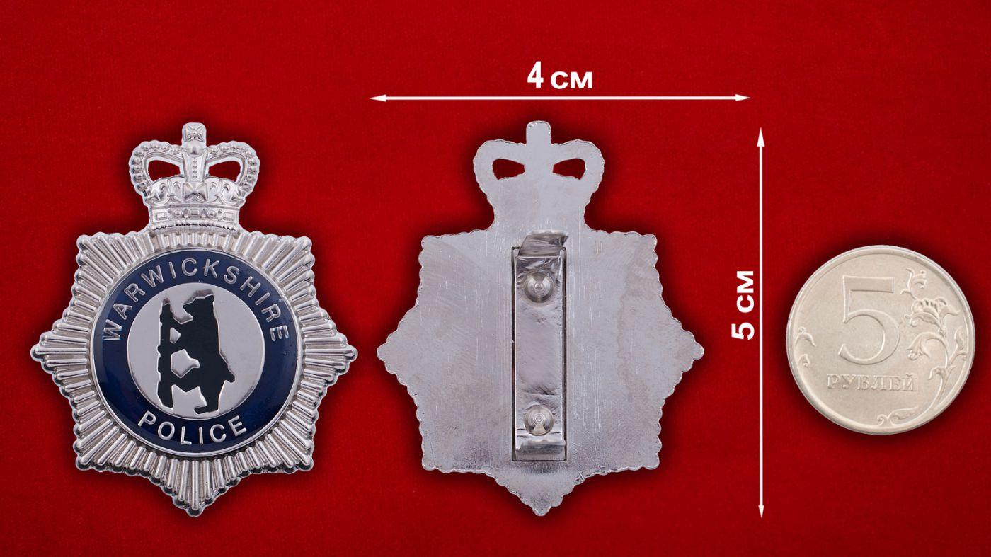Знак полиции Йоркшира - сравнтительный размер