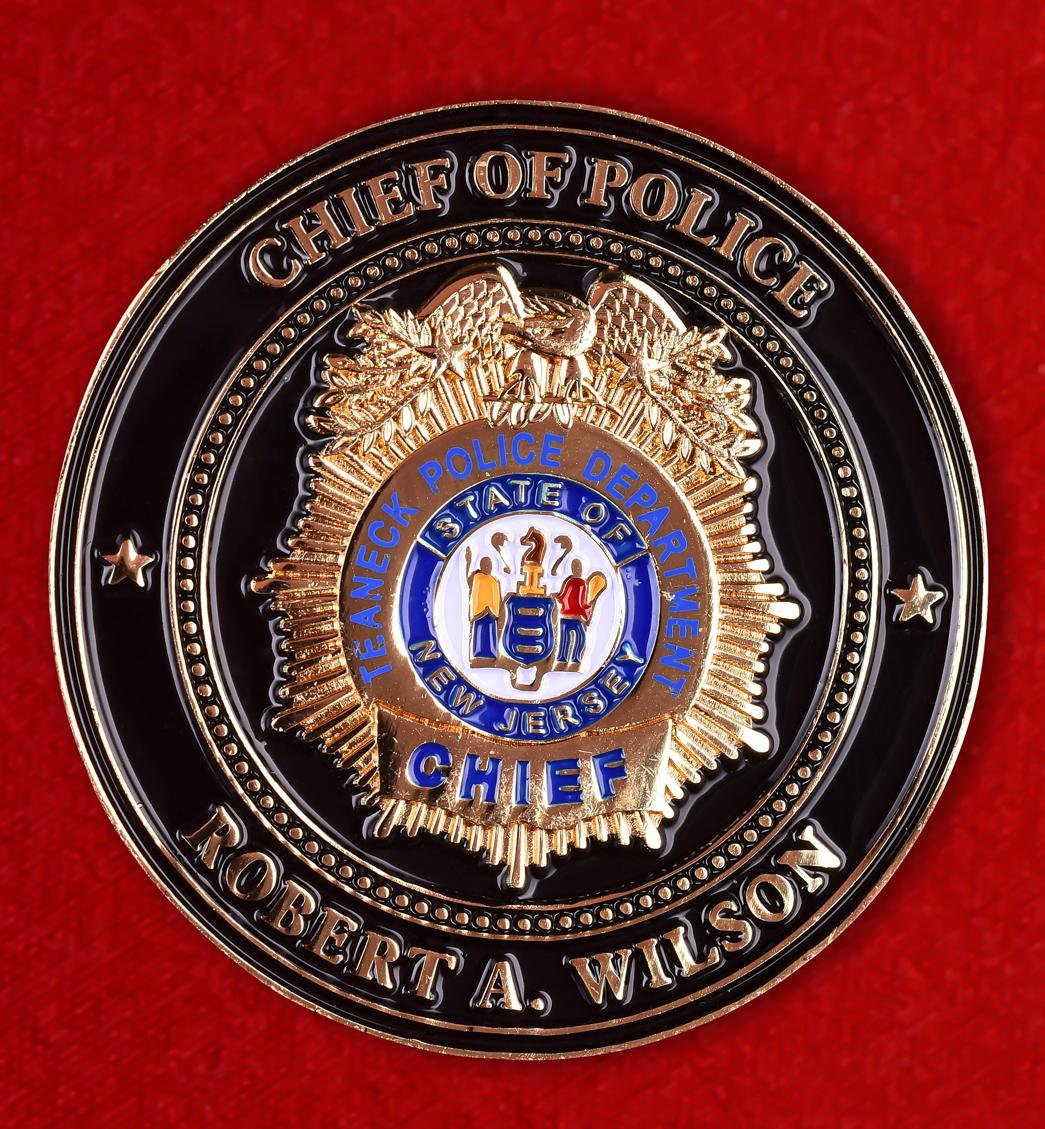 """Знак полиции США """"Роберт А. Уилсон. Тинек. Нью-Джерси"""""""