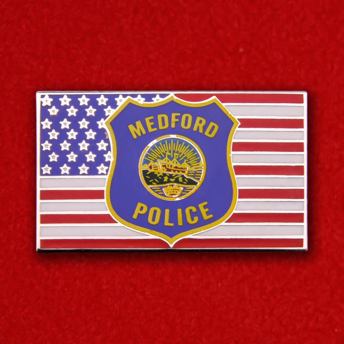 """Знак """"Полиция города Медфорд, Орегон, США"""""""