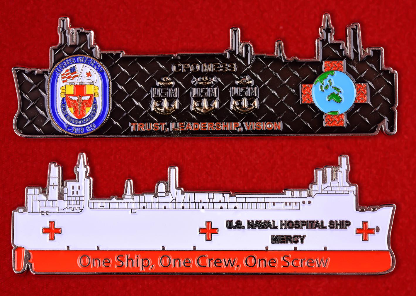 """Знак США """"Военно-морской госпиталь"""""""