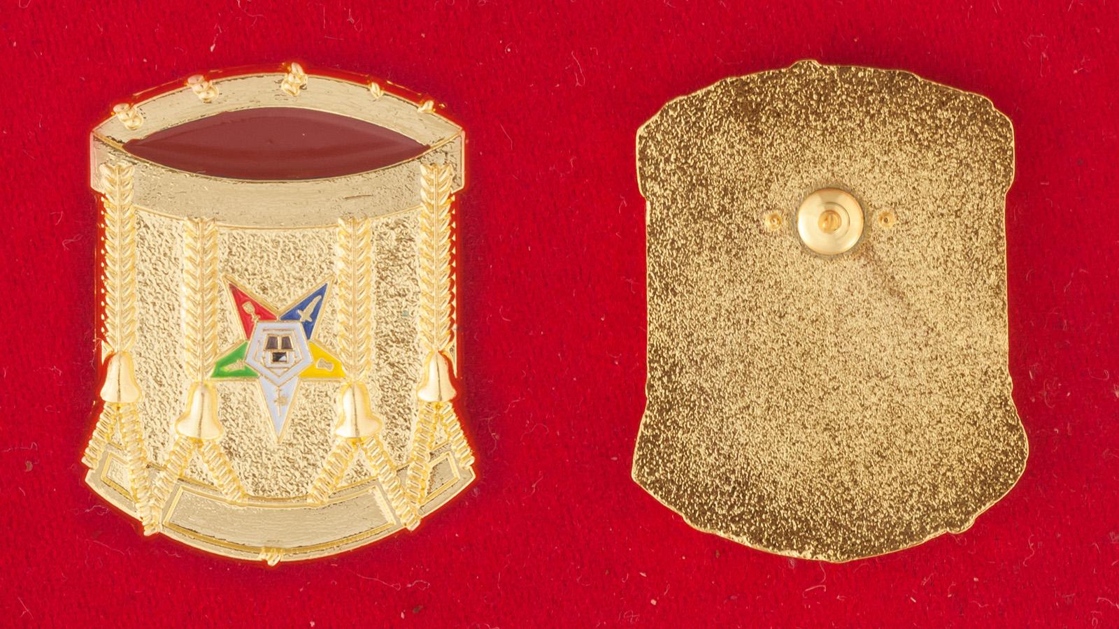 """Значок """"Ритуальная корона Алистера Кроули"""" - аверс и реверс"""