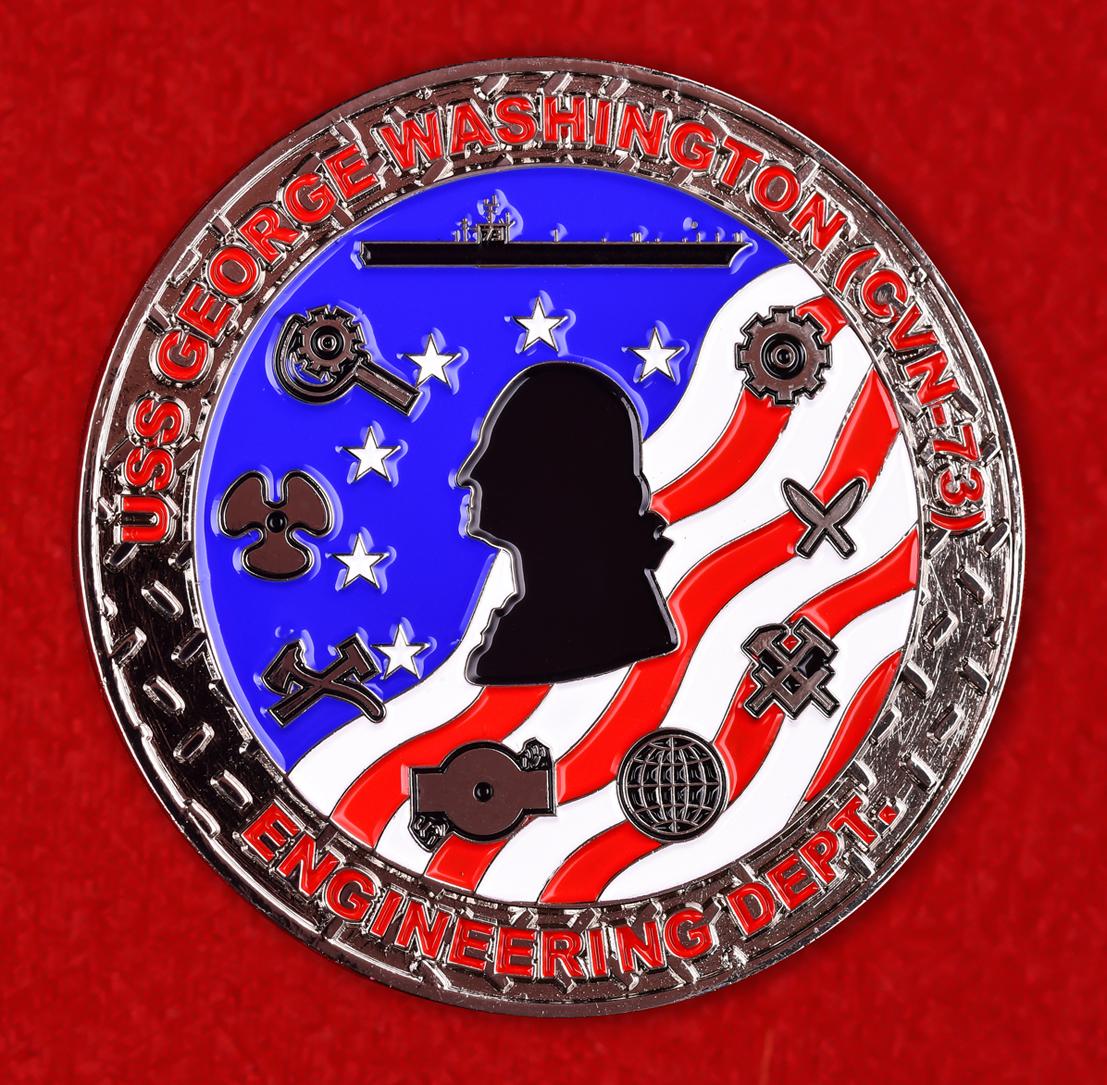 "Знак ВМС США ""Авианосец Джордж Вашингтон"""