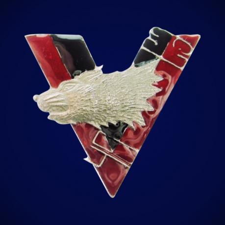 Знак Волчья сотня (черно-красный)