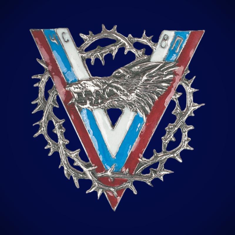 Знак Волчья сотня (V с терновым венком)