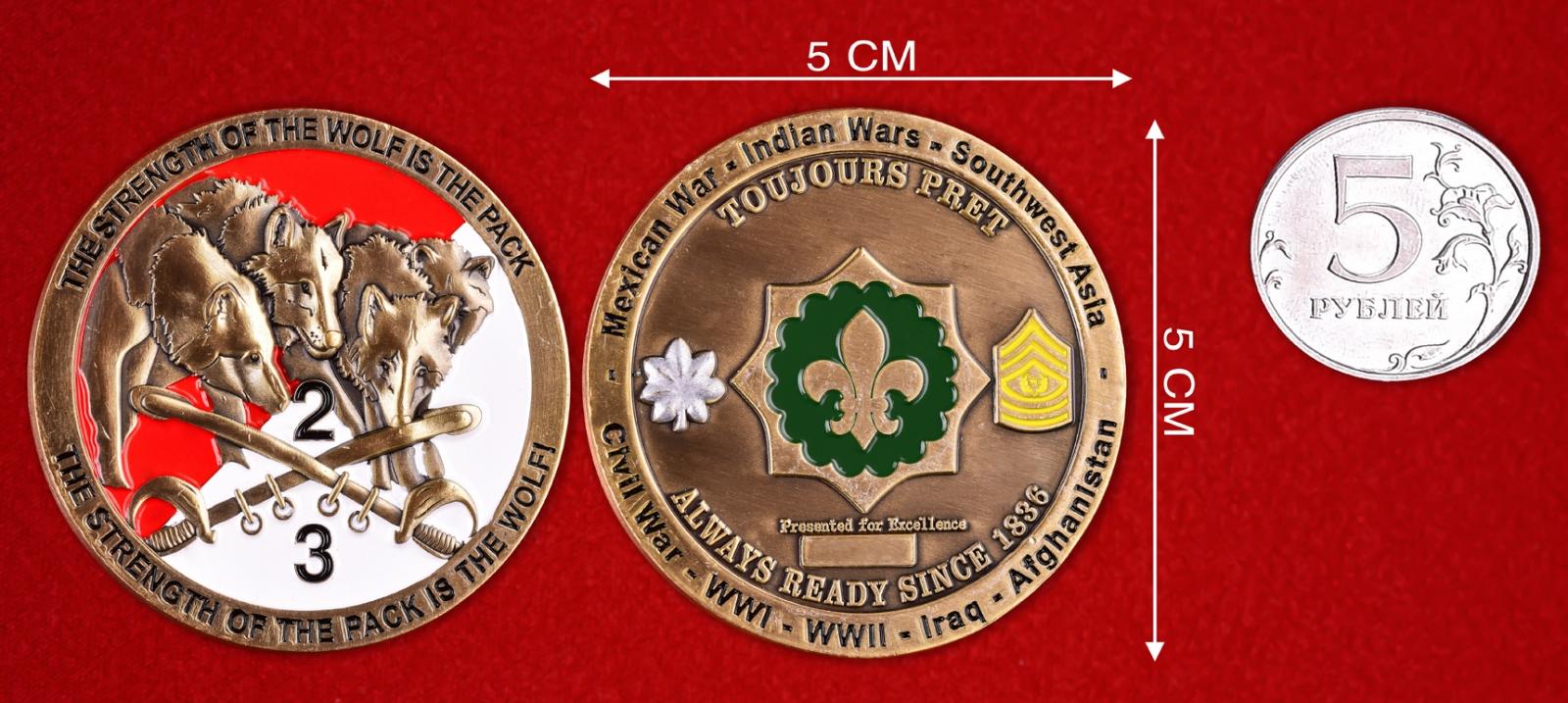 """Знак """"За отличие в службе"""" 2-го кавалерийского полка Армии США"""
