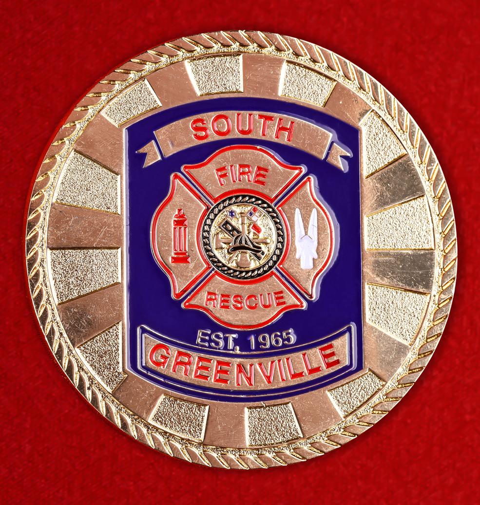 """Знак """"За отличие в службе"""" пожарной команды Гринвилла"""