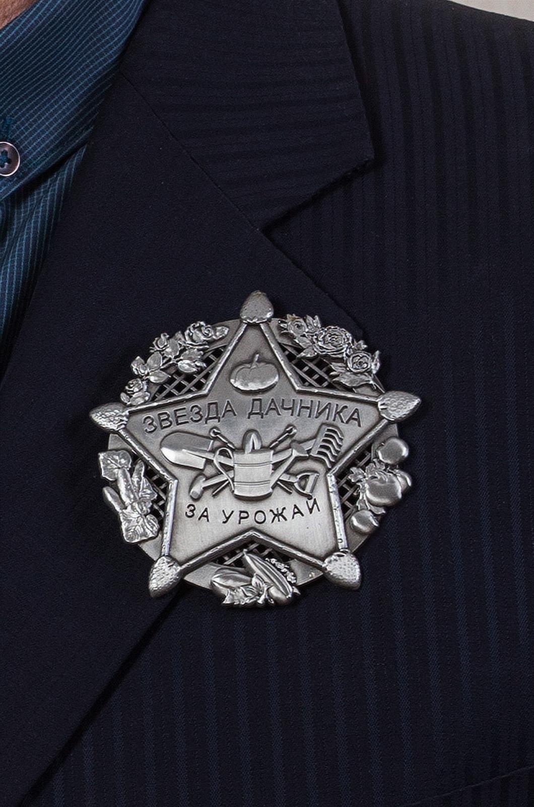 """Знак """"Звезда дачника"""" на лацкан пиджака"""