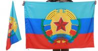Знамя Луганской Народной Республики с гербом