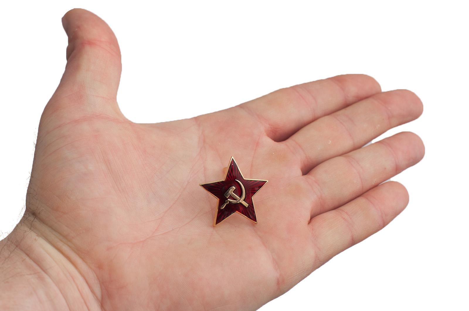 Звезда на пилотку - сравнение на ладони