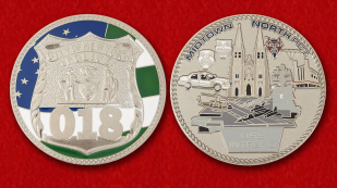 018 Precinct New York City Police Challenge Coin - obverse and reverse