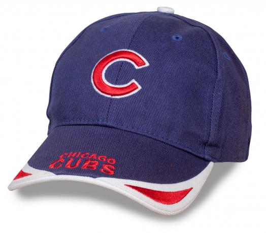 100% твой стиль! Бейсболка Chicago Cubs - синяя джинса с красно-белыми элементами. Стильно, удобно, модно