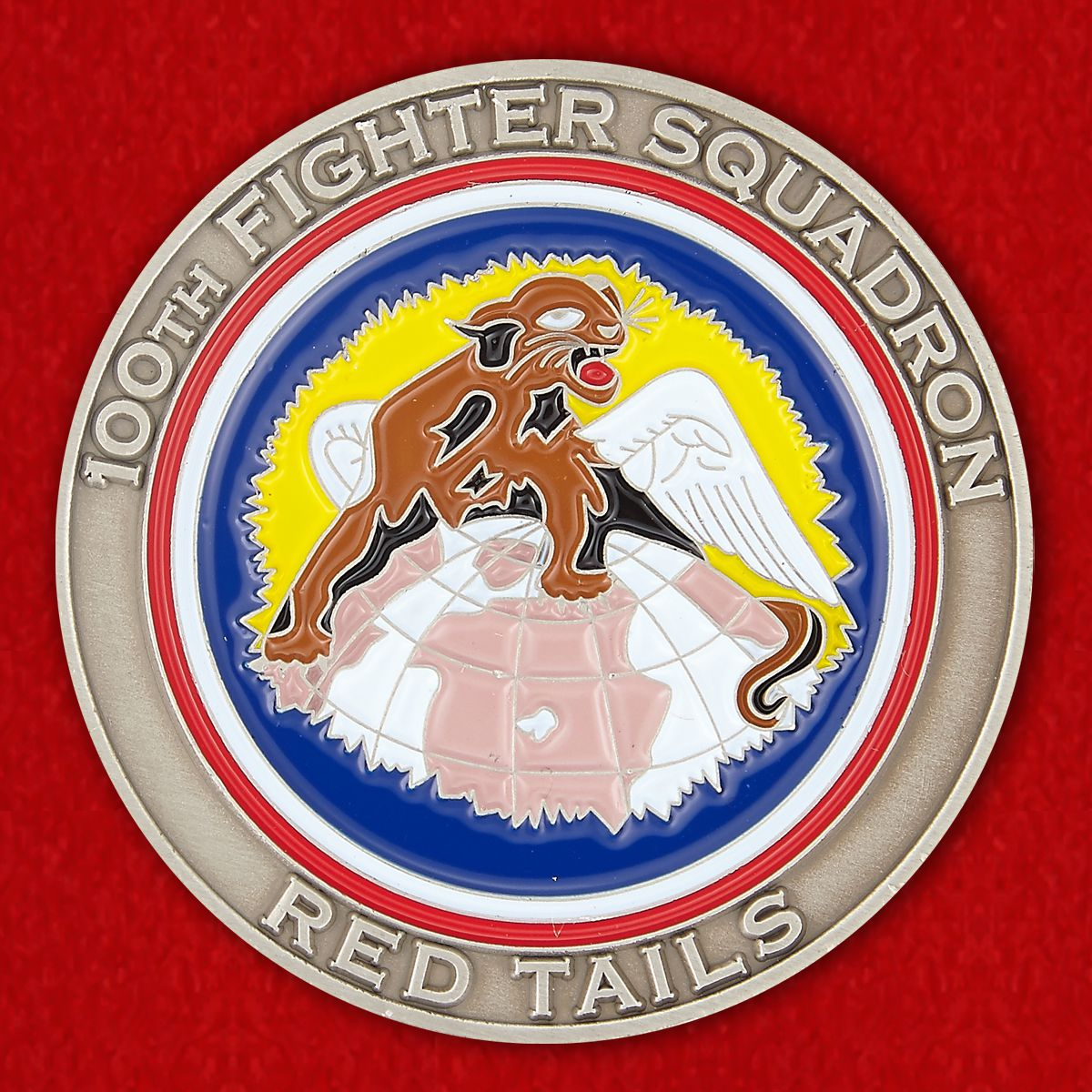 "100th Fignter Squadron ""Red Tayls"" Challenge Coin"