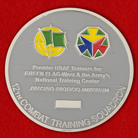12th Combat Traning Squadron Challenge Coin